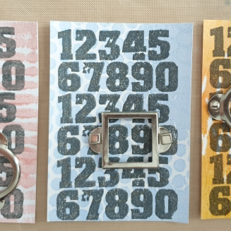 My April ATCs - Numbers